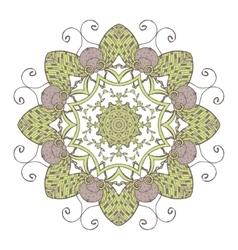 Mandala Ethnic lace round ornamental pattern vector image vector image
