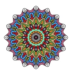 Mandala Round Zentangle Ornament Pattern vector image