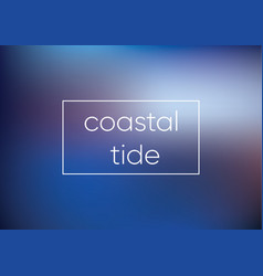 Mesh blue coastal tide smooth abstract colorful vector