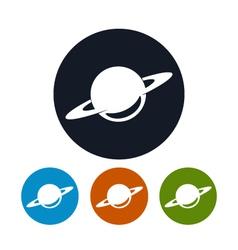 Planet icon saturn icon vector