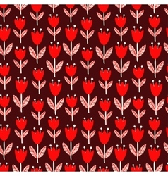Red and white flowers vector image