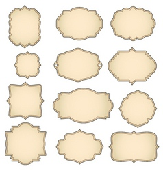 retro frames vector image vector image