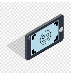 Selfie isometric icon vector