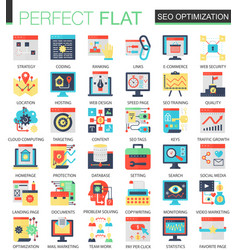 seo optimization complex flat icon concept vector image vector image