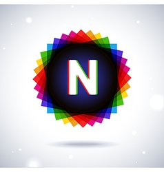 Spectrum logo icon Letter N vector image vector image