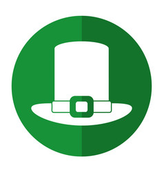 st patricks day hat icon shadow vector image