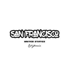 United states san francisco california city vector