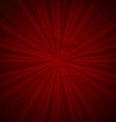 Vintage Red Sunburst Poster vector image vector image
