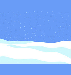 winter landscape with falling snow flat style vector image vector image