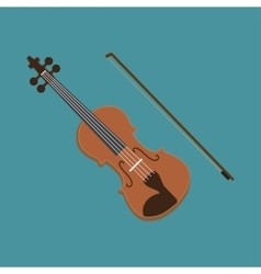 Violin icon of the musical vector