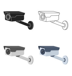 hidden camera icon in cartoon style isolated on vector image