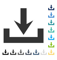 Downloads icon vector