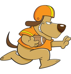 Cartoon football dog vector