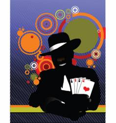 Illusionist in the scene vector