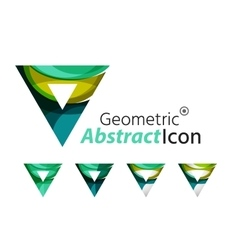 Set of abstract geometric company logo triangles vector