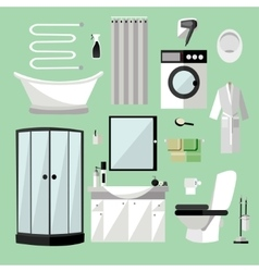 Bathroom interior furniture vector