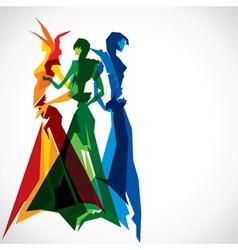 abstract fashion women vector image vector image