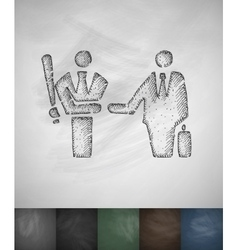 Agreement icon hand drawn vector