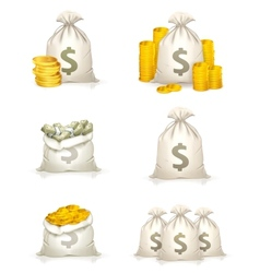 Bags of money vector image vector image