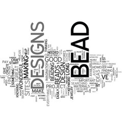 Bead kits text background word cloud concept vector