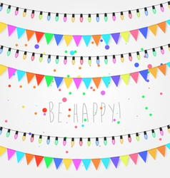 Birthday holiday festival decoration outdoor vector