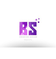 Bs b s pink alphabet letter logo combination with vector