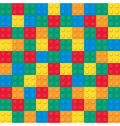 Building toy bricks pattern vector image vector image