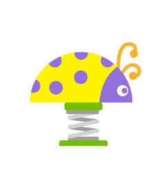 children ladybug playground fun childhood play vector image