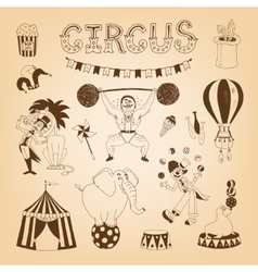 Circus design elements vector