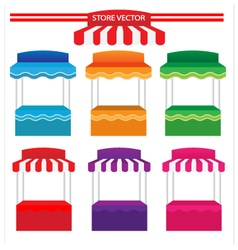 Colorful store vector image
