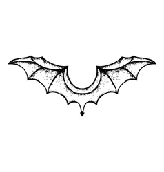 grunge bat wings vector image vector image