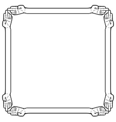 Hand frame vector image vector image