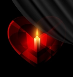 Heart and candle vector