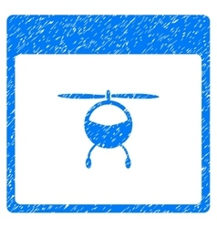 Helicopter Calendar Page Grainy Texture Icon vector image