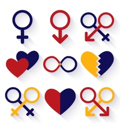 Male and female sex symbol vector