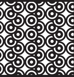 Overlap circles black and white pattern vector