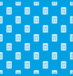Poster pattern seamless blue vector