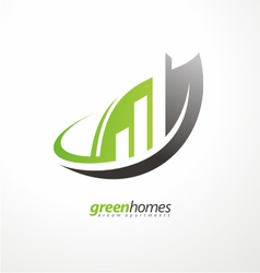 Real estate agency graphic design idea vector image vector image