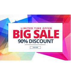 Sale banner or voucher template design with vector