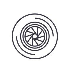 shutter camera line icon sig vector image