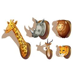 Stuffed animal heads vector image
