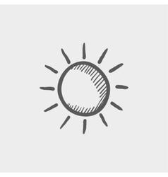 Sun sketch icon vector image
