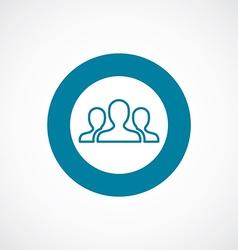 Team icon bold blue circle border vector