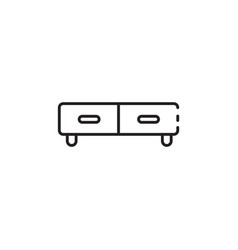 Thin color small couch icon vector