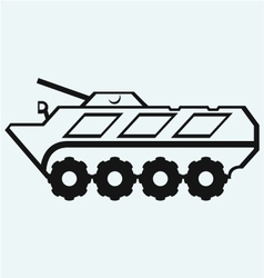 Wheeled armoured personnel carrier vector
