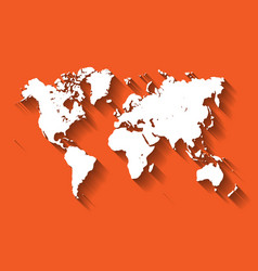 white map of world modern flat design with vector image vector image