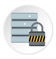 Data protection icon flat style vector