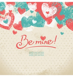 Card of Valentines day vector image
