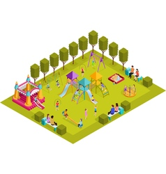 Isometric Kids Playground vector image