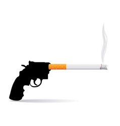 Gun and cigarette vector
